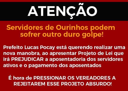 Prefeito Lucas propõe calote ao IPMO e sindicato diz ser outro duro golpe  aos servidores de Ourinhos | Passando a Régua